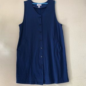 VINTAGE  BUTTON  DOWN JUMPER DRESS SZ (1X)